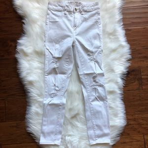 American Eagle White Jegging Crop Size 4 Long
